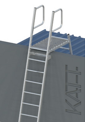 Parapet Angled Access Ladder - Roof Safety System - Secure Height System - Roof Safety - Sydney NSW - Small