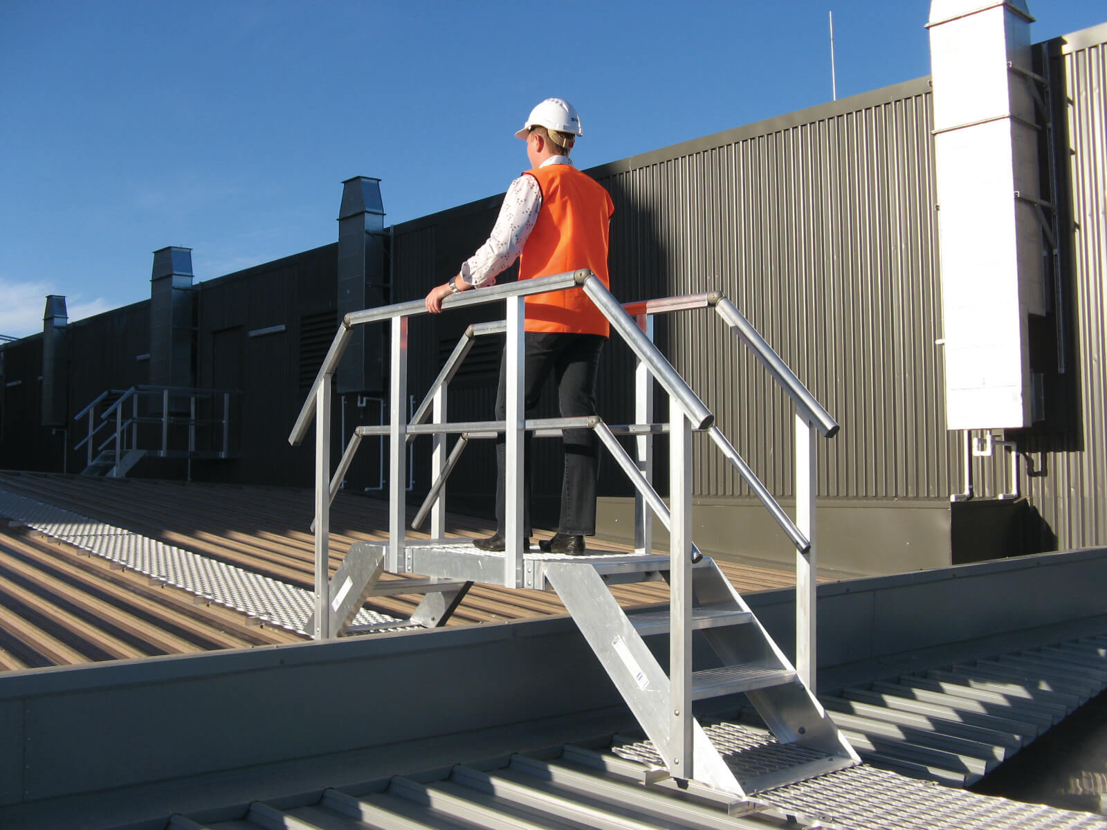 Step Ladder bridge - Sydney NSW - Roof Safety System - Height Safety - Secure Height Systems