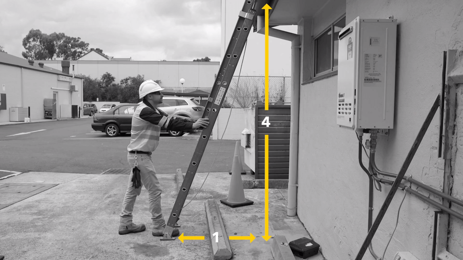 Distance for Ladder Bracket Sydney - Height Safety - Safe Roof Systems - Sydney