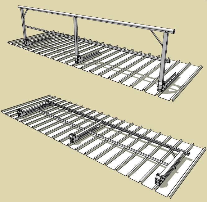 FOLDABLE GUARDRAIL SMALL - HEIGHT SAFETY SYSTEM - SYDNEY, NSW